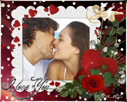 Романтическая рамка - Я тебя люблю
