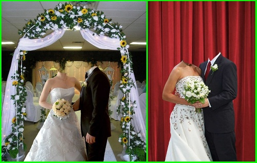 2 шаблона для фотошоп Жених и невеста