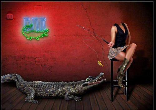Шаблон для фотошопа - женская рыбалка