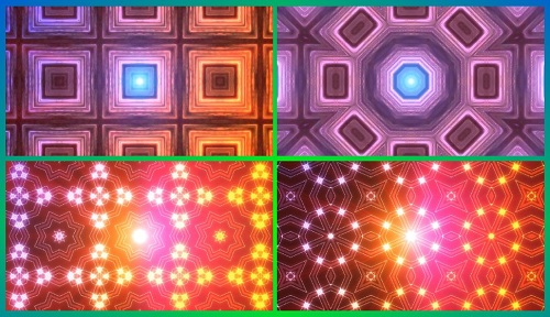 Калейдоскоп - абстрактные HD бэкграунды