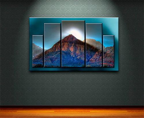 Красивая картина с горами