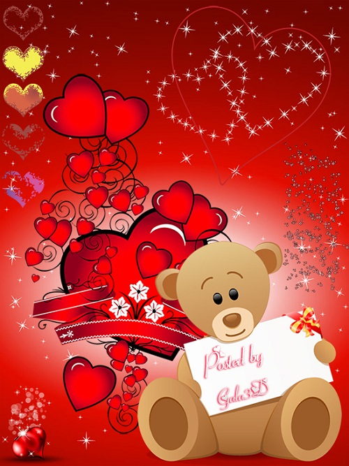 Клипарт на прозрачном фоне ко Дню Влюблённых