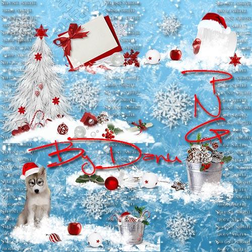 Зимний клипарт для фотошопа -  В этом сказочном снегу