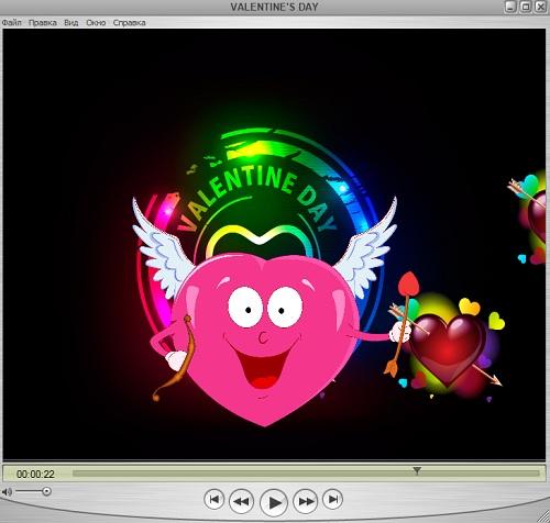 Футаж - День Святого Валентина с сердечками