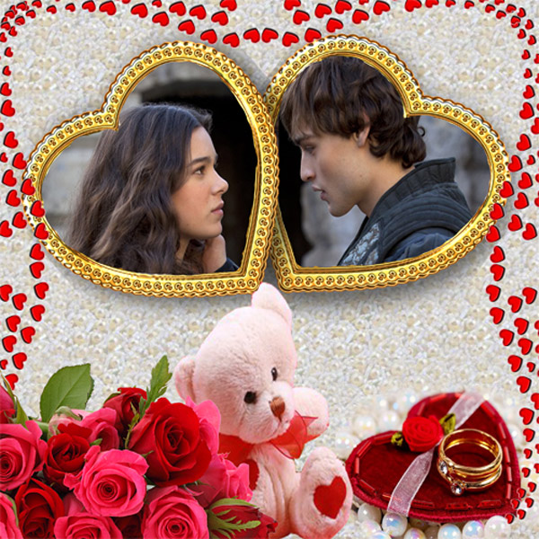 Рамка романтическая -  Влюблённые