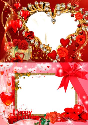 Рамочки для фотошопа - Happy Valentines