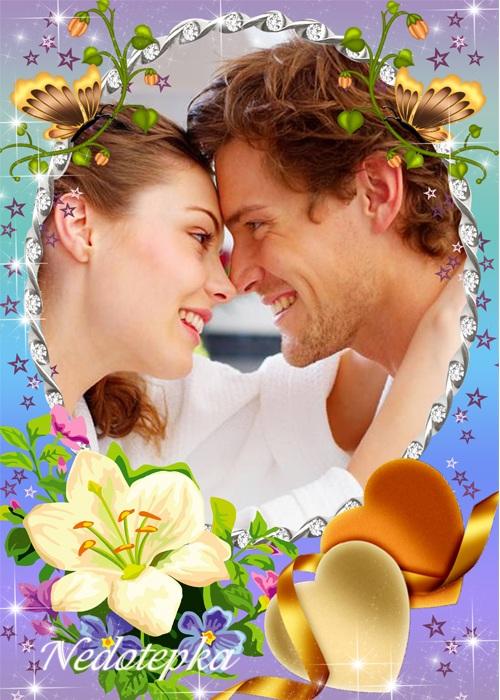 Романтическая рамка - Два любящих сердца