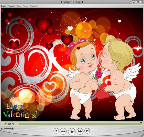 Футаж HD с влюблёнными ангелочками