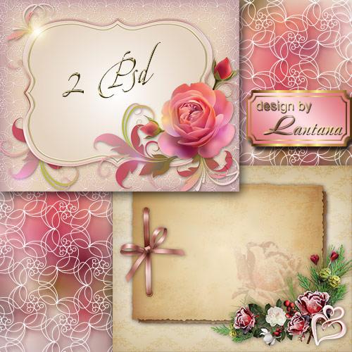 PSD исходники - Поздравительные открытки