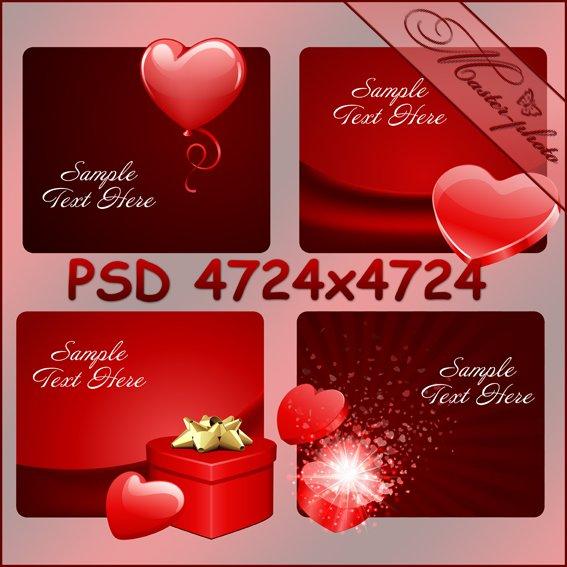 PSD исходник к Дню Святого Валентина