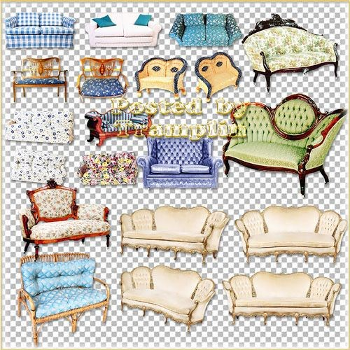 Клипарт мебель – Диваны, кушетки, кресла
