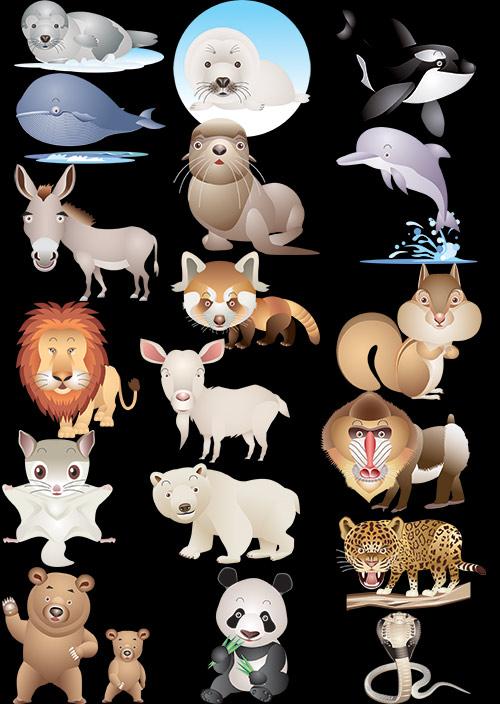 Клипарт - Сборник животных в Photoshop (прозрачный фон)