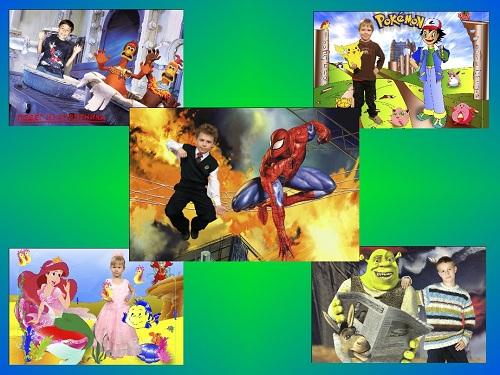 Набор костюмов из мультфильмов