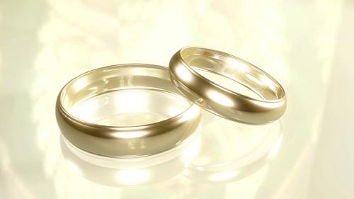 Футаж - Вращение свадебных колечек