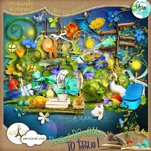 Весенний скрап-набор - Мечты становятся явью