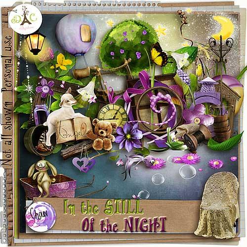 Детский скрап-набор - Всё ещё ночь
