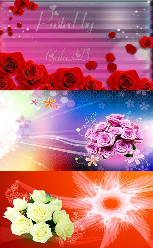 Красивые PSD исходники с розами