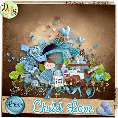 Детский романтический скрап-набор - Детская любовь