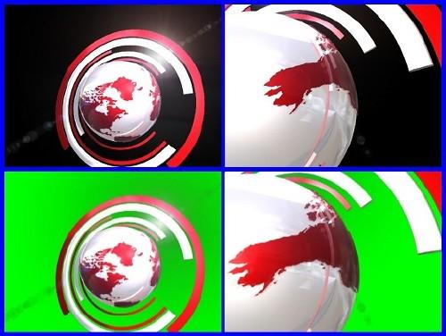 Футаж - вращение планеты (alph, hrom)