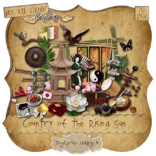 Экзотический скрап-набор - Страна Восходящего Солнца