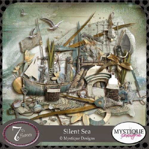 Морской скрап-набор - Безмолвное Море