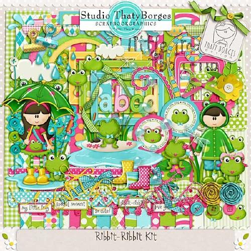 Детский весенний скрап-набор - Риббит