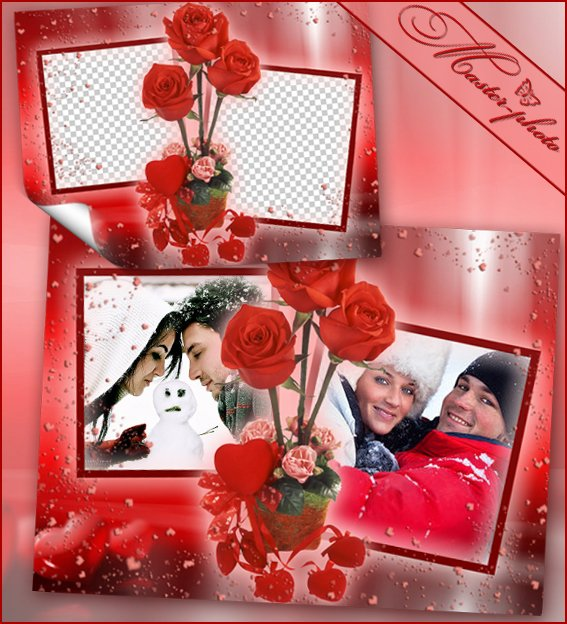 Романтическая рамка для фотошопа - Букет любимой