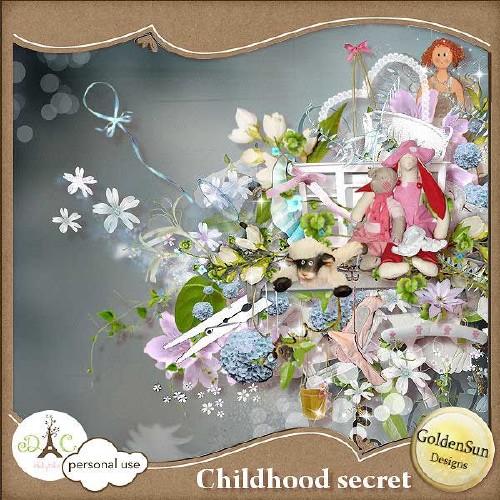 Детский скрап-набор - Детская тайна