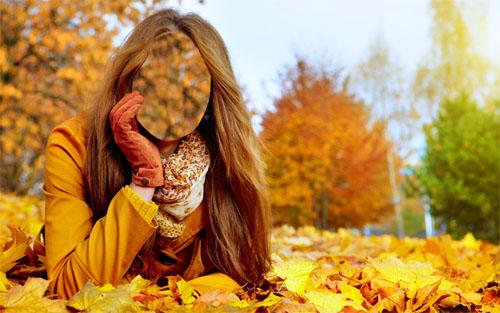 Женский шаблон - осень в парке
