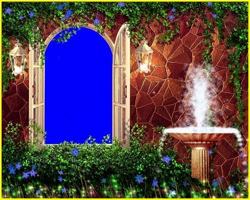 Свадебный футаж - Окно в саду