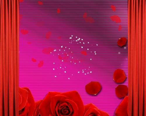 Оригинальный футаж с розами