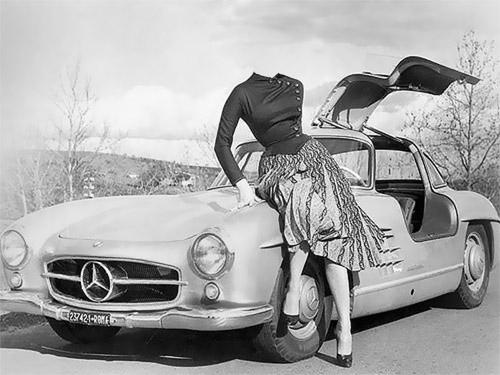 Шаблон женский - мерседес 60-х