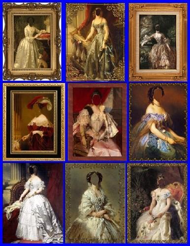 Подборка шаблонов Старая галерея, знатные дамы