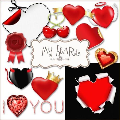 Романтический скрап-набор - Моё сердечко
