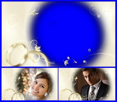 Свадебный футаж-рамка (alph + hrom)