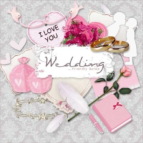 Свадебный мини-скрап-набор - Свадьба