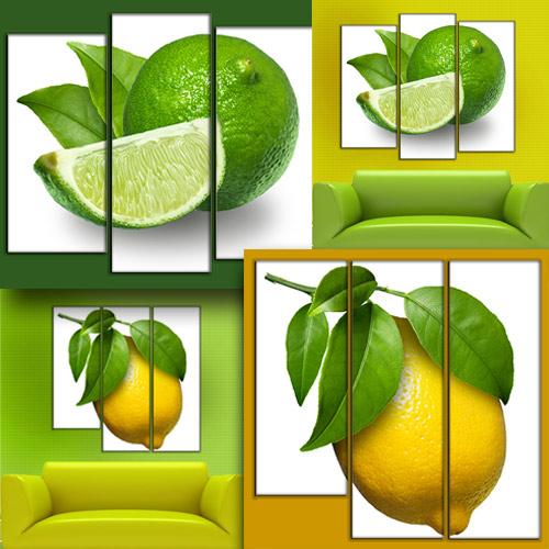Два Триптиха (полиптиха) в PSD формате - Лимонное настроение
