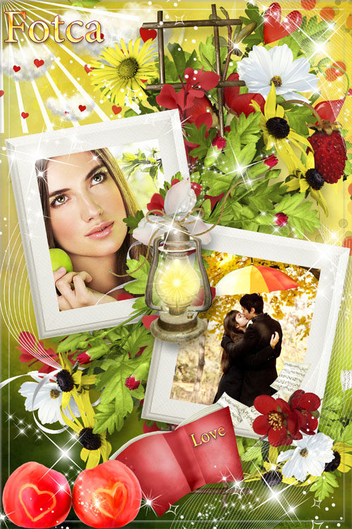 Романтическая рамка для фото - Пора любви
