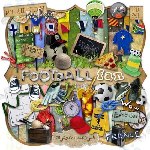 Спортивный скрап-набор - Футбольный фанат