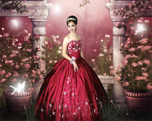 Шаблон женский - Волшебный сад