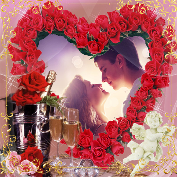 Рамка романтическая - Музыка любви