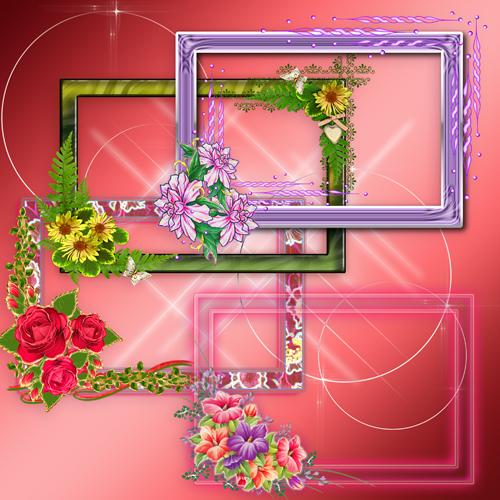 Прямоугольные цветочные вырезы