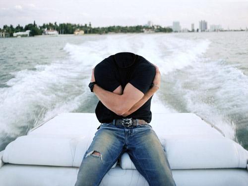 Мужской шаблон - отдых по реке