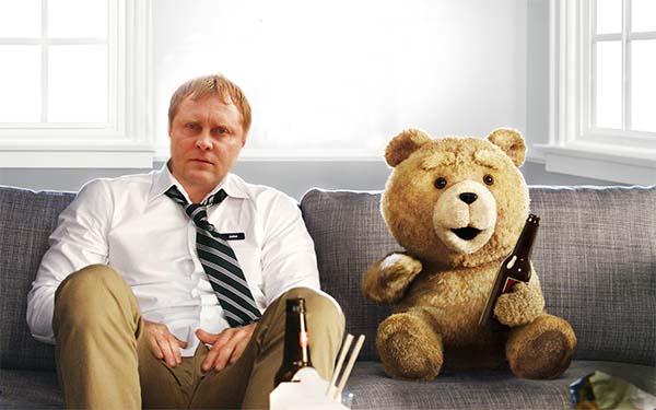 мужской шаблон фотошоп с мишкой ted