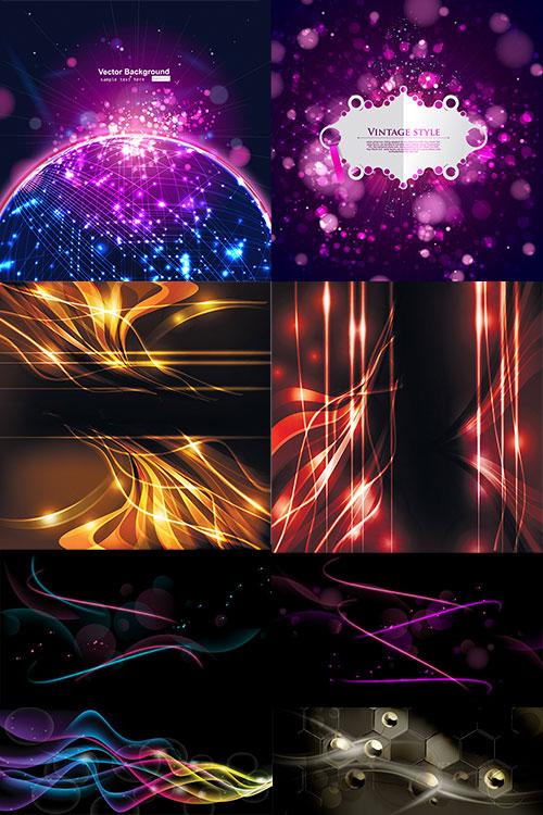 Абстрактные векторные фоны