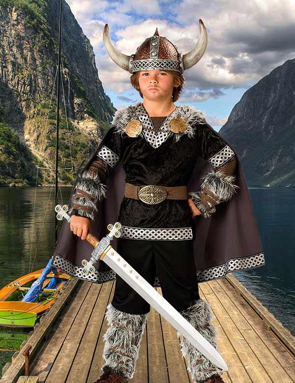 Детский фотошаблон - В стране викингов