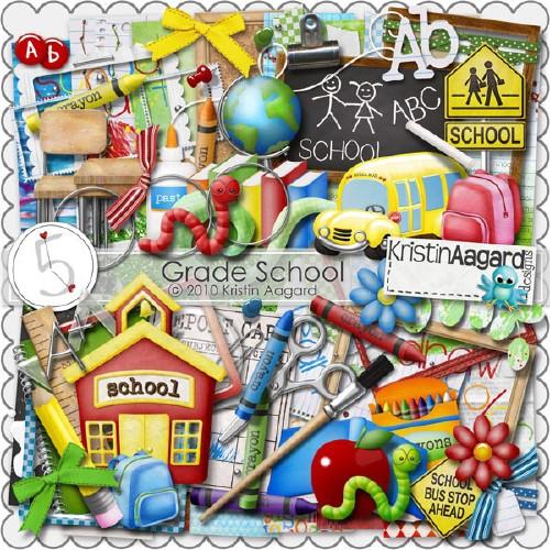 Детский школьный скрап-набор - Начальная школа