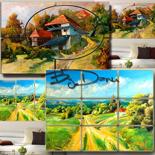 Два полиптиха в PSD формате - Картина маслом