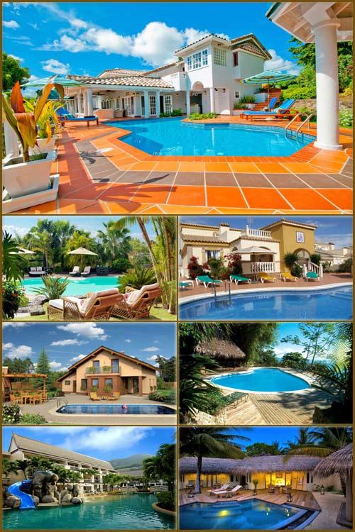 Обои - Красивые басейны на разных курортах