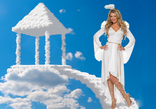 Шаблон для фотошопа  - Небесный ангел